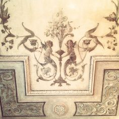 Ceiling of World's Oldest Cafe, Caffè Florian. #Travel #Venice #Art #Angels