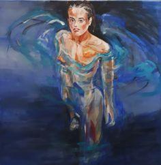 model in water 2 - pastel, 2020 My Arts, Pastel, Model, Painting, Cake, Scale Model, Painting Art, Paintings