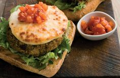 Chickpea Burgers with Halloumi Burger Slices