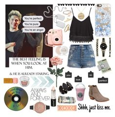 """""""My favorite person """" by maydayhailee ❤ liked on Polyvore featuring Frye, Casetify, Anne Klein, Nasty Gal, Fresh, Topshop, Pieces, Urban Decay, River Island and American Coin Treasures"""
