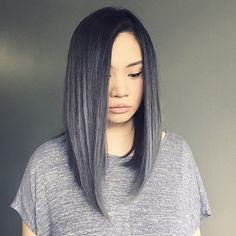 "10k Likes, 422 Comments - The Cut Life (@thecutlife) on Instagram: ""Kind of really into this exaggerated Lob created by @chrisweberhair 