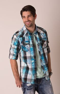 BKE Vintage Fire Shirt - Men's Button-Up Shirts, Plaid Shirts, & Wovens | Buckle