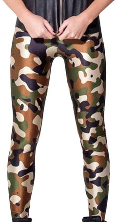 XTX Ladies Fashion Green Camouflage Footless Legging Pants -- Special offer just for you. See it now! : Women's Fashion for FREE