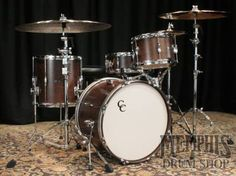 C and C Custom Player Date II Bebop Drum Set - Walnut Lacquer