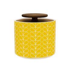Oppbevaringskrukke i keramikk i retro Skandinavisk 50-60 talls design. Komplimenterer ethvert kjøkken, retro som moderne. Krukkene håndlages i Portu