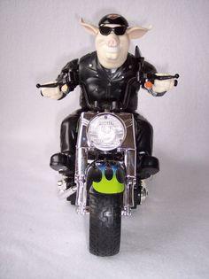 Harley Davidson Mighty Bikes Wild One Animated Toy Music Sound Lights Rides RARE #HarleyDavidson