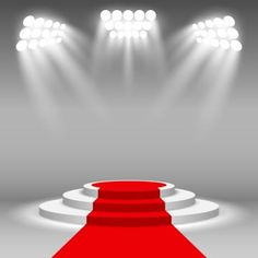 Stage podium illuminated scene spotlight party award ceremony with red carpet vector illustration PNG and Vector Photography Studio Background, Studio Background Images, Poster Background Design, Light Background Images, Lights Background, Red Carpet Background, Red And Black Background, Birthday Background, Wedding Background
