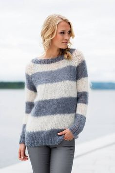 Knitwear, leather and fur fashion Sweater Knitting Patterns, Knit Patterns, Free Knitting, Knitwear Fashion, Fur Fashion, Mohair Sweater, Sweater Weather, Knit Crochet, Clothes