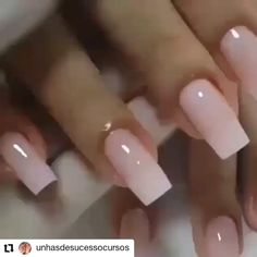 Saiba como ganhar dinheiro com alongamento de unhas - nails - French Tip Acrylic Nails, French Manicure Nails, Square Acrylic Nails, Manicure E Pedicure, Best Acrylic Nails, Square Nails, Acrylic Nail Designs, French Manicure With A Twist, Natural Looking Acrylic Nails