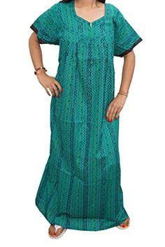 Mogul Women's Nightgown Cotton Printed Ethnic Indian Maxi Kaftan Dress Mogul Interior http://www.amazon.com/dp/B015827F3Y/ref=cm_sw_r_pi_dp_zhR8vb133R9PN