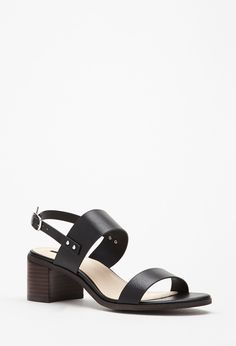 £21 Faux Leather Slingback Sandals - Shoes - 2000054055 - Forever 21 UK