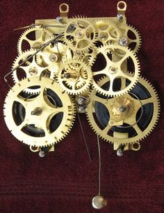American typical time and strike clock movement