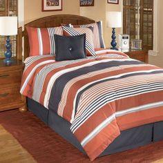orange comforter sets bedding clearance bedding stanford duvet cover chocolate. Black Bedroom Furniture Sets. Home Design Ideas