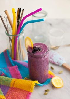 Yummy Smoothies, Yummy Drinks, Smoothie Recipes, Recipes Kids Can Make, Easy Meals For Kids, Focus Foods, Blueberry Lemonade, Gluten Free Blueberry, Lemon Yogurt