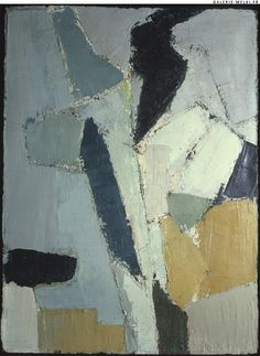 Nicolas de STAEL. Untitled.  1950. Oil on canvas. Size in Cm: 100 x 73.