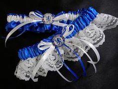 Oh my goodness... Chelsea Football Club wedding garter set.