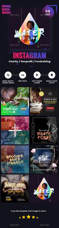 Charity / Nonprofit / Fundraising Instagram Ads - 08 PSD [NewSize]  Download Here:  https://graphicriver.net/item/charity-nonprofit-fundraising-instagram-ads-08-psd-newsize/18865624?ref=iDoodle