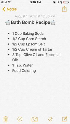 Bath bomb recipe without citric acid