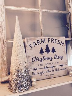 Christmas tree farm sign Farm fresh Christmas trees