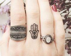 50% OFF Xmas SALE Boho Tattoo fatima hamsa Hand by ArrowTattoo
