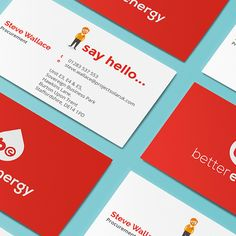 Stationary produced for brand: Better Energy  #design #stationary #branding #businesscard #characterdesign #collateral