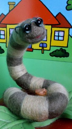 bookworm felted worm
