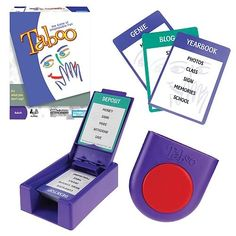 Taboo and Taboo Jr. great for word retrieval and defining/describing skills. If adult game, take out questionable cards so they are not in play. Higher level word retrieval skills used.