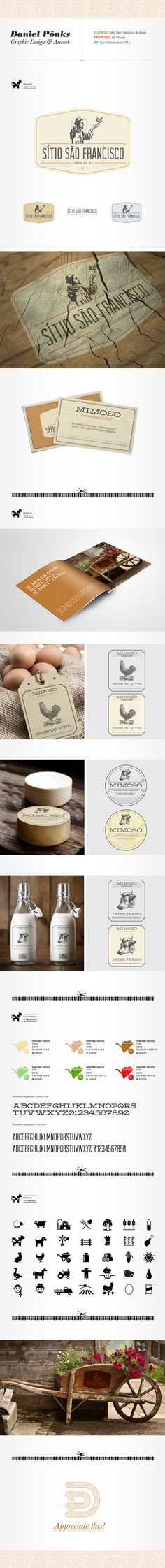 São Francisco de Assis Farm by Daniel Pönks, via Behance. Swing top bottles give a vintage flair to any product.