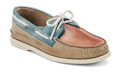 Sperry Top-sider  Men's Cloud Logo Authentic Original White Washed Boat Shoe