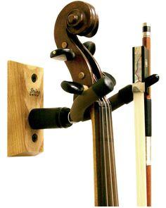 Violin Stand Solid Wood Violin Wall Hanger Hook Violin