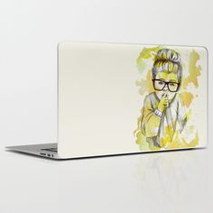 Silent girl by carographic Laptop & iPad Skin