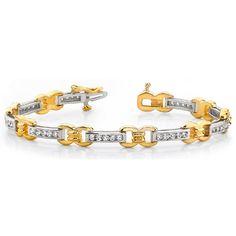 1.00 Karat Brillantarmband in 585er/750er BI-Color Gold  http://www.juwelierhausabt.de/products/de/Diamantarmbaender/100-Karat-Brillantarmband-in-585er-750er-BI-Color-Gold.html