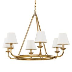 Leigh 6-Light Chandelier with Shades