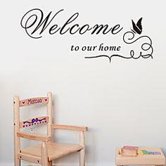Mots+&+Citations+Stickers+muraux+Autocollants+avion+Autocollants+muraux+décoratifs,Vinyle+Décoration+d'intérieur+Calque+Mural+For+Mur+–+EUR+€+7.07