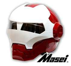 Masei Red/White Cola Coke Atomic-Man 610 Open Face Motorcycle Helmet Free Shipping for Harley Davidson