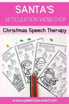 This Santa's articulation activity is perfect for December speech therapy sessions. These NO PREP Christmas themed articulation sheets will save you precious time while your students enjoy the activity. This packet contains various speech sounds in the initial, medial, and final position. There are also pages that contain /s/ blends, /r/ blends, and /l/ blends. | Speech is Sweet