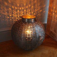 Marrakech Globe Lantern Antique Copper