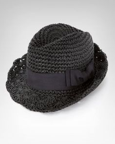 Crochet Straw Fedora - not sure I have the skill for this one!  It is fabulous