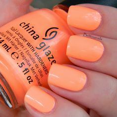 China Glaze Son of a peach! My go to colour this summer!