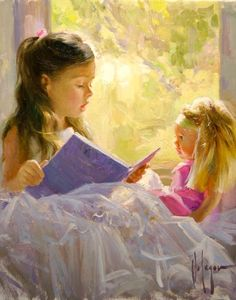 Storyteller a Vladimir Volegov Original Painting available from J Watson Fine Art 661 your source for Vladimir Volegov original paintings and other Vladimir Volegov art. Paintings I Love, Beautiful Paintings, Original Paintings, Art Paintings, Reading Art, Girl Reading, Children Reading, Vladimir Volegov, Pictures To Paint