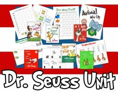 Activities to go with various Dr. Seuss books.  Perfect for Read Across America.