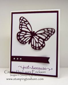 Stamping to Share Shoebox Swap Cards, Laura Erickson, Butterflies Thinlits, 2015 Occasions Catalog, Stampin' Up!