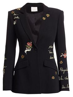 online shopping for Cinq Sept Estelle Love Story Blazer BLACK from top store. See new offer for Cinq Sept Estelle Love Story Blazer BLACK Kpop Fashion Outfits, Blazer Fashion, Stage Outfits, Suit Fashion, Look Fashion, Fashion Details, Stylish Outfits, Womens Fashion, Suits For Women