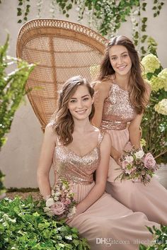 Cheap Rose Gold Sequins Top Long Chiffon Beach 2017 Bridesmaid Dresses Halter Backless A Line Straps Ruffles Blush Pink Maid Of Honor Gowns Bridesmaid Dresses On Sale Bridesmaid Dresses Orange From Alicebridal, $100.51| Dhgate.Com