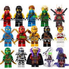 [Bainily]Single Sale New Yang Gereral Kozu Echo Zane Pythor Kai Buidling Blocks Figures Compatible with LegoINGly Ninjago - Kid Shop Global - Kids & Baby Shop Online - baby & kids clothing, toys for baby & kid Legos, Ninjago Cole, Ninjago Kai, Ninjago Party, Lego People, Building Blocks Toys, Baby Shop Online, Cool Lego Creations, Model Building