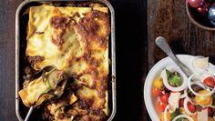 Lasagne med squash og aubergine