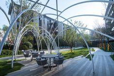 苏南万科常熟尚湖,璞悦雅筑 / 亦构都市 Joy Furniture, Urban Furniture, Landscape Structure, Landscape Design, Glazed Brick, High Building, Front Entrances, Simple Colors, Models
