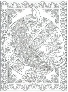 Peacocks Art Coloring on Pinterest | Peacocks, Coloring Pages