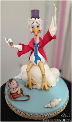 stork and Baby cake topper by Pamela Iacobellis