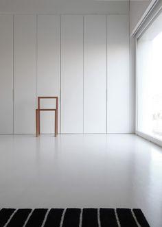 White concrete floor